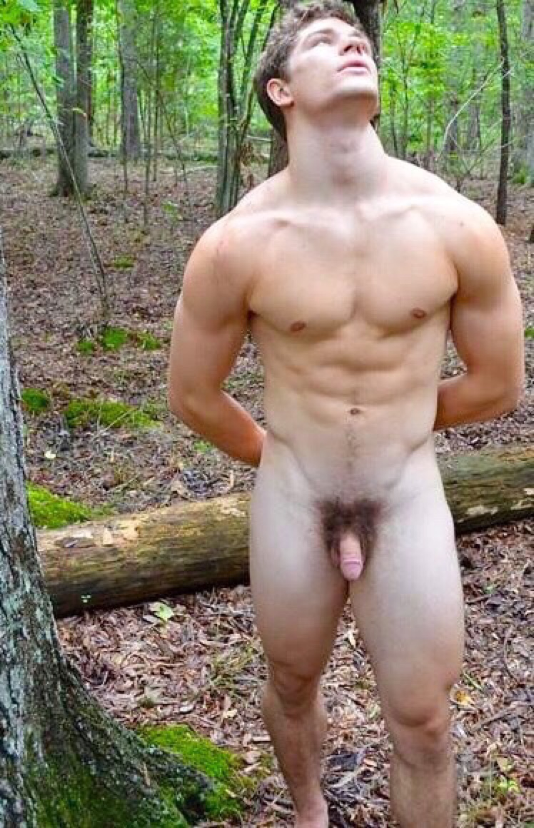Handsome Guy K3Nbcaber Completely Nude In The Woods  Mrgays-5290