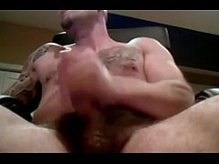 Cool Gay Bear Jerks Off His Big Dick On Cam