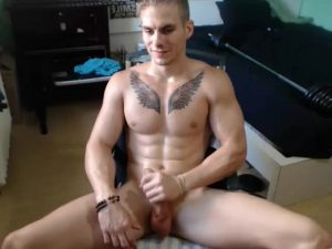 Hot Muscular College Student Naked On His Gay Webcam