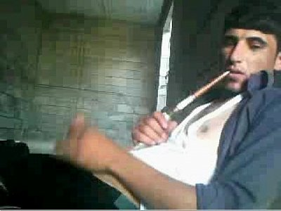 Playful Arab Guy Can Smoke And Masturbate On Gay Cam