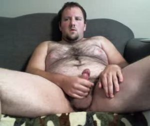 Fat Gay Bear Shows Off His Hairy Body And Cock On Cam
