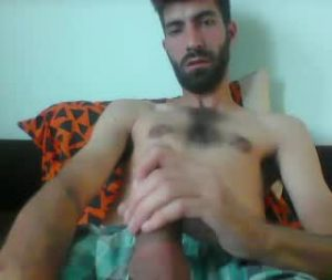 Hairy Euro Cam Gay Guy Jerks Off His Big Dick