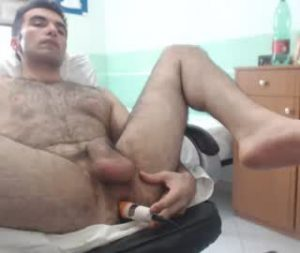 Young Hairy Italian Cam Gay Fucks His Own Ass With A Vibrator