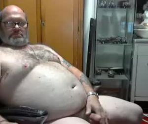 Fat Mature Guy Strokes His Tiny Penis On Gay Webcam