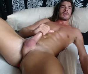 Long Haired Hunk Manu Jerks Off On Gay Cam