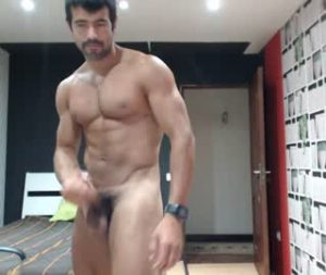 Muscular Latino Gay Guy Sam Jerks Off On Cam