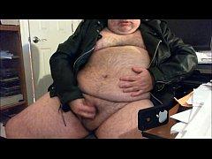 Very Fat Gay Bear Masturbates His Small Dick On Solo Webcam