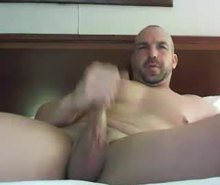 Awesome Euro Gay Cam Bear Wanks Off During His Solo Session