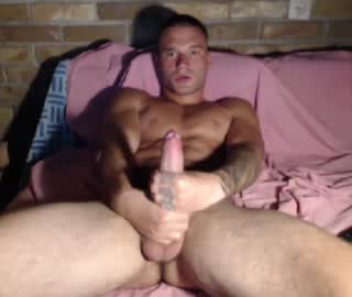 Fit College Gay Cam Dude Masturbates His Big Cock