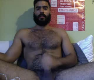 Hairy Arab Cam Gay Guy Jack Masturbates For Us