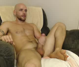 Handsome Bald Cam Gay Guy Jacks Off
