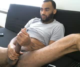 Hung Black Gay Dude Marley Jerks Off On Webcam