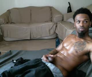 Hot Black Cam Gay Jay Flashes His Long Dick