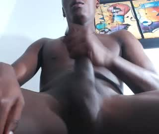Young Black Cam Gay Kevin Masturbates His Massive Dick