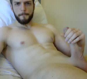 Handsome British Gay Cam Guy Chris Masturbates His Hung Dick