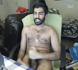 Sexy Indian Gay Guy Masturbates His Hairy Dick On Cam