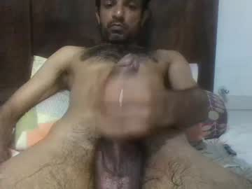 Hairy Indian Dude Sanjay Strokes His Hung Dick