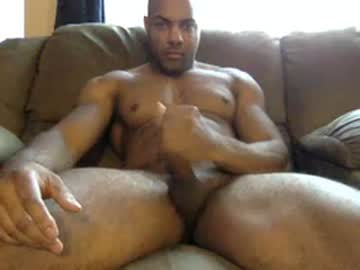 Muscle Black Guy Blake Wanks In His Live Chat Room