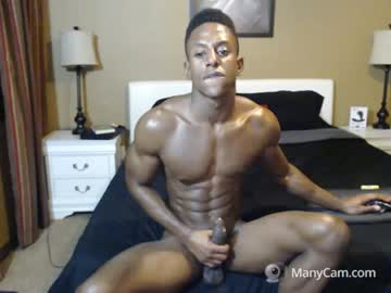 Muscle Black Gay Dude Liam Does A Cum Show Now
