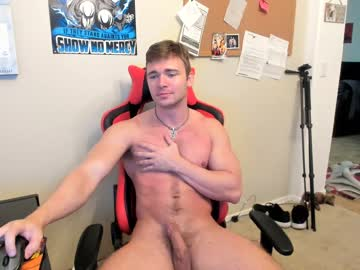 Muscle Blonde Hunk Jaden Sitting Naked On The Chair