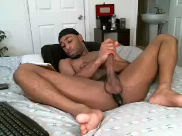 Hung Black Gay Trey Strokes His Massive Dick
