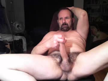Playful Grandpa Plays With His Hung Hairy Dick