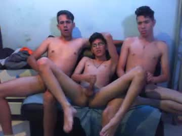 Three Teen Boys Do A Wank Show Together