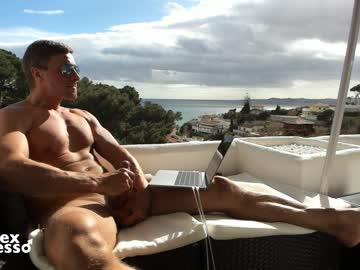 Sexy Spanish Hunk Sexespresso Wanks His Dick Outdoors