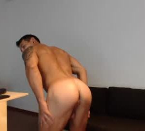 Muscled Jock Sebhastian2222 Flashes His Bubble Ass