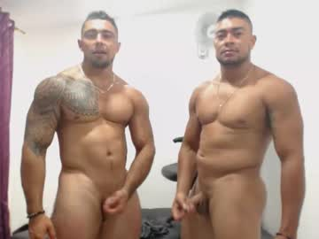 Two Muscular Brothers Thebrothershott Masturbate On Webcam