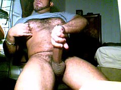 Strong Latin Gay Bear Does A Cum Show On The Cam